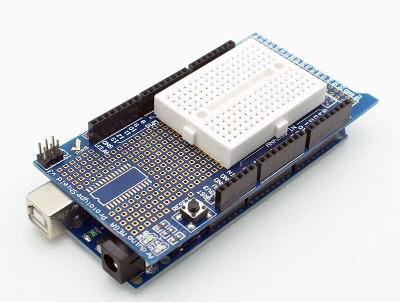 Buy arduino mega r proto shield kit with mini