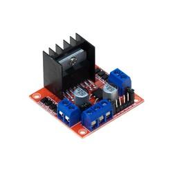 Robotistan - L298N Voltaj Regulatörlü Çift Motor Sürücü Kartı(Kırmızı PCB)